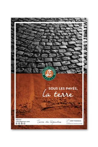 Campagne Roland-Garros dans Paris